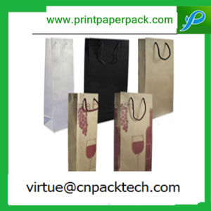 Recycle Eco Friendly Fashion Carrier Kraft Paper Bag with Long Handle pictures & photos
