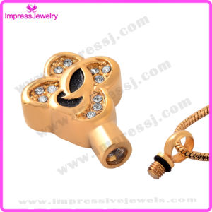 Necklaces for Ashes Gold Plating Clover Pendant with Crystals Ijd9641 pictures & photos