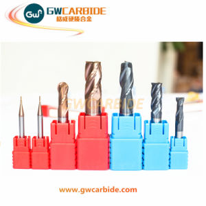 Carbide Flat Ball Nose End Mill 4 Flutes HRC 60 pictures & photos