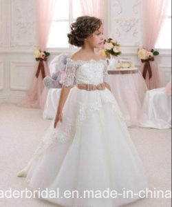 Girl′s Pageant Ball Gown Lace Wedding Flower Girl Dress F1715 pictures & photos