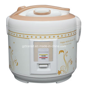 Electric Rice Cooker with Deluxe Flower Printing Housing