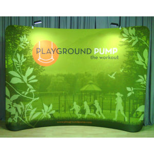 10FT Curved Fabric Pop Display Exhibition Waveline Tube Banner Stand pictures & photos