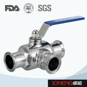 Stainless Steel Hygienic Three-Way Clamped Ball Valve (JN-BLV1003) pictures & photos