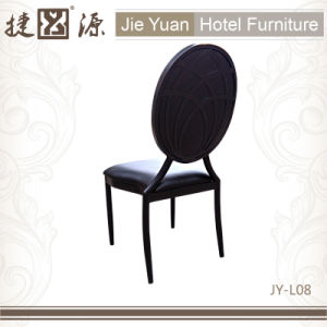 Black Aluminum Stacking Cafe Restaurant Chair (JY-L08) pictures & photos
