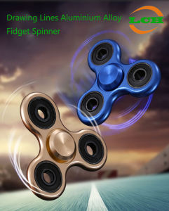 Drawing Lines Aluminium Alloy Fidget Spinner High Speed 4-6 Minutes pictures & photos