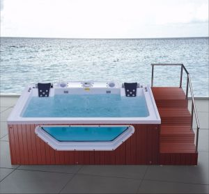 3560mm Outdoor SPA with Steps for 9 People (AT-9008) pictures & photos
