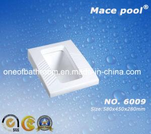 Sqaure Ceramic Squatting Pan for Bathroom (6009) pictures & photos
