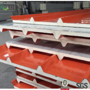 Color Steel Polyurethanes Sandwich Panel for Roof and Wall pictures & photos