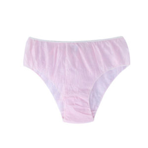 Polypropylene Pink Disposable Underwear for Girls Tanning pictures & photos