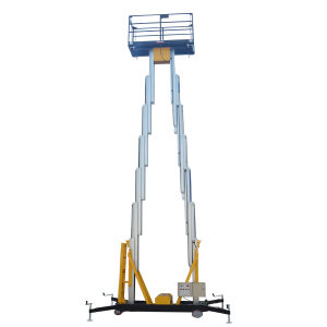 Hydraulic Mobile Dual Masts Aerial Work Platform (Max Height 8m) pictures & photos