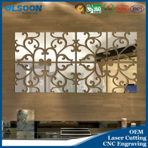 Olsoon Custom Design Acrylic Home Wall Mirror Decoration pictures & photos