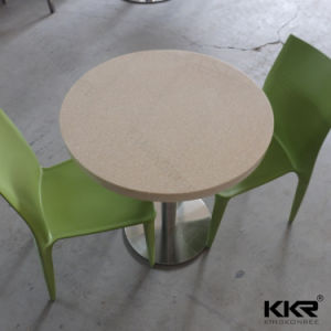 Modern Round Solid Surface Marble Top Dining Table pictures & photos