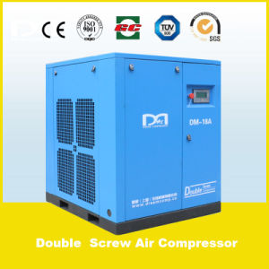 Super Large Power Capacity No Frame Belt Driven Air Cooling Stationary Screw Air Compressor for Sale pictures & photos