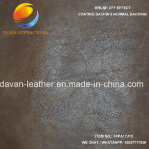 High Quality PU Imiation Leather for Men Shoes pictures & photos