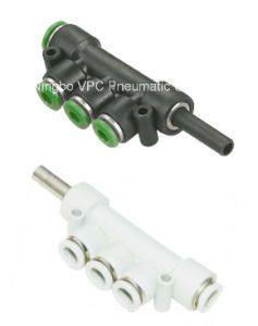 One-Touch Fittings Manifold Pneumatic Fitting Connector Push in Fitting pictures & photos