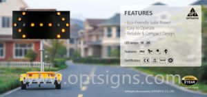 Portable Traffic Safety Control Safety Flashing Sign Solar LED Arrow Board Trailer pictures & photos