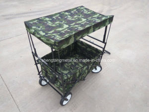 New Kids Folding Wagon with 600d Waterproof Bags Foldable Four Wheel
