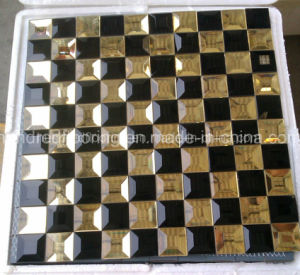 Black Mix Gold Tile Mirror Glass Mosaic (HD093) pictures & photos