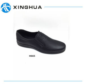 Male Business Shoes PU Sole Upper by PU Leather pictures & photos