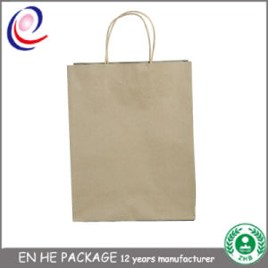 New Printes Logo Cheap Brown Kraft Paper Bag with Handle pictures & photos