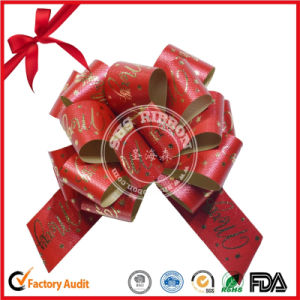 Floral Style Gift Package POM POM Christmas Ribbon Pull Bow pictures & photos