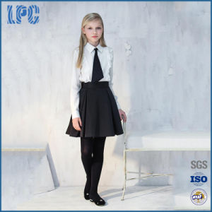 Customized Girls Two-Piece Blouse and Skirt Outfit School Uniform pictures & photos