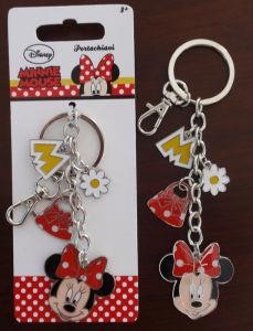 Promotional Gift Portachiavi- Princess Epoxy Logo Key Chains Rings Customerized Minnie Enamel Keyrings pictures & photos