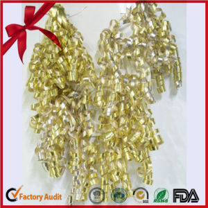 Metallic Glitter Ribbon Pre Made Curling Ribbon Bows pictures & photos