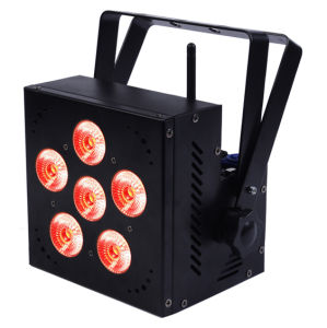 6PCS 15W RGBWA 5 in 1 Wireless Battery LED PAR pictures & photos