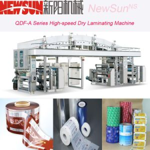 Qdf-a Series High-Speed Adhesive Label Dry Lamination Machinery pictures & photos