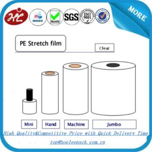 Manual Colored Stretch Rolls Bundling Stretch Film pictures & photos