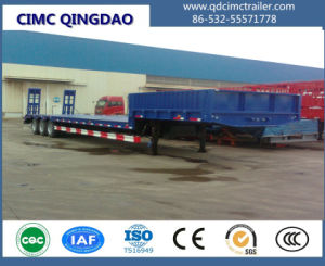 Cimc Line Axles 100-150 Tons Low Bed (Lowbed) Truck Semi Trailer Truck Chassis pictures & photos