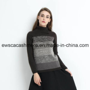 Rainbow Like Women Turtle Neck 100% Cashmere Sweater