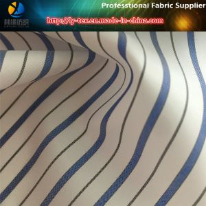 Blue Men Polyester Yarn Dyed Stripe Plain Lining Textile Fabric (S101.118) pictures & photos