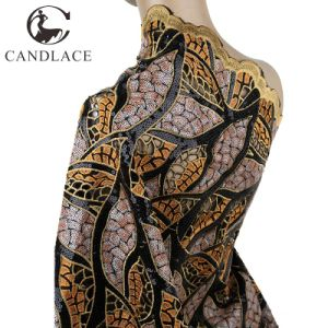 Handcut Sequence Lace Garment Fabric for Wedding Dress pictures & photos