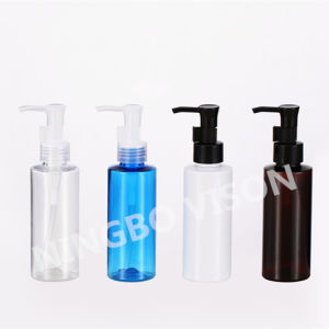 120ml Cylinder Shape Plastic Cosmetic Bottle with Disc Top Cap pictures & photos