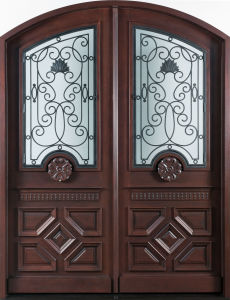 Home Double Front Main Entrance Mahogany Door (GSP1-037) pictures & photos
