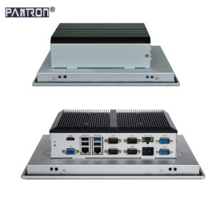 fanless design 12.1 inch 2* LAN embedded industrial touch panel PC pictures & photos