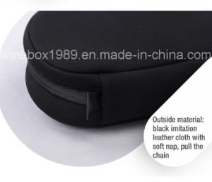 Black Imitation Leather Cloth Hand Held Zipper Electronic Bag pictures & photos