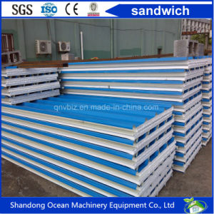 High Quality Sandwich Panel China Manufacturer High Quality Color Steel Rock Wool Sandwich Panel pictures & photos