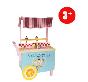 Wooden Educational Kids Ice-Cream Car Pretend Shop Play Children DIY Toys pictures & photos