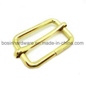 Brass Plated Metal Unwelded Steel Slide Buckle pictures & photos