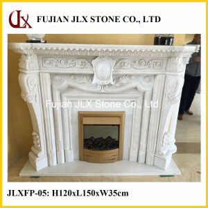 White Marble Fireplace Mantel pictures & photos