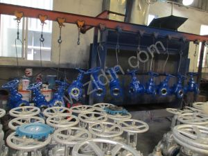 DIN Standards Carbon Steel Wcb Non-Rising Stem Gate Valve for Oil From Wenzhou Factory pictures & photos