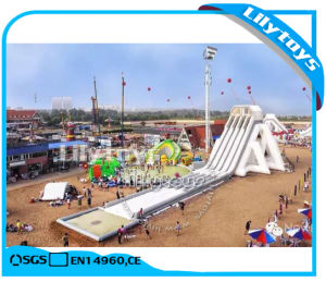 Lilytoys Customized Inflatable Beach Water Slide Sport Game for Beach (J-Water Park-45)