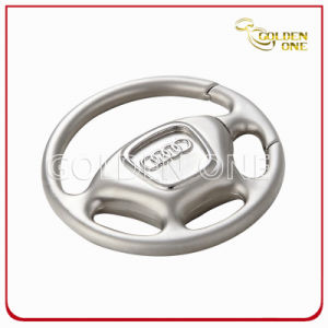 Classic Steering Wheel Design Metal Chrome Plated Promotion Keychain pictures & photos