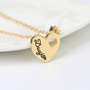 Fashion Heart Necklaces Jewelry Zinc Alloy Mother and Daughter S Heart Pendant Chain Necklace Women Bijoux