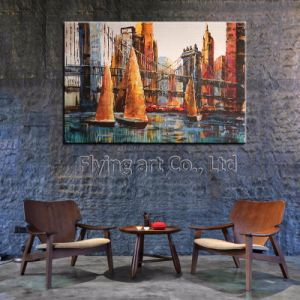 Manufacturer High Quality Handmade Modern Canvas Art for Bridge pictures & photos