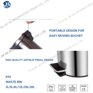 Factory Supply 5 Star Hotel Full 410 Stainless Steel Waste Bin for Bathroom pictures & photos