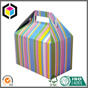 Gable Color Printed Cardboard Paper Packaging Portable Box pictures & photos